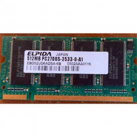 MEMORIA RAM SODIMM 512MB...