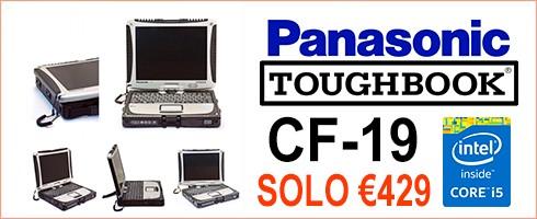 TOUGHBOOK PANASONIC CF-19 I5 SERIALE RS232